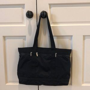 LeSportsac Large Black Travel Tote
